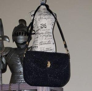 Vintage beaded crossbody small bag